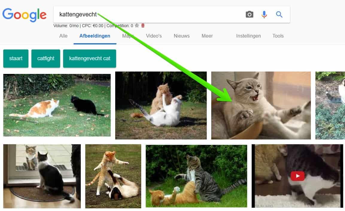 Resultaten Google Afbeeldingen