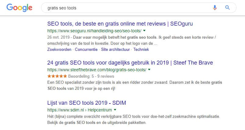 Stars Review rating SERP plugin